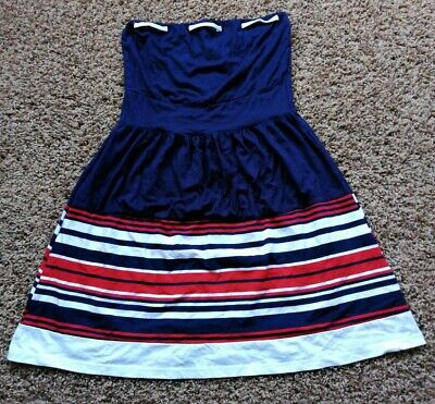 £4 • Buy Wal G Nautical Stretchy Strapless Navy Red White Mini Dress S/M