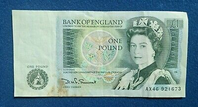 £0.99 • Buy £1 - Series D One Pound Note - English -1978 -1984 - Bank Of England