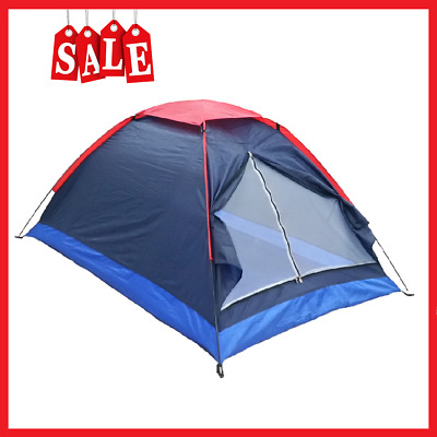 AU22.45 • Buy 2 Persons Camping Tent Single Layer Beach Tent Outdoor Sun Shelter With Bag
