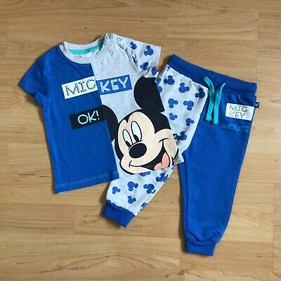 £2.70 • Buy Baby Boy 6-9 Months Clothes Disney Outfit Mickey Mouse Top Matching Jog Bottoms