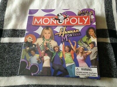 £9.50 • Buy Monopoly Junior Disney Channel Edition Board Game Hannah Montana Parker Bros NEW