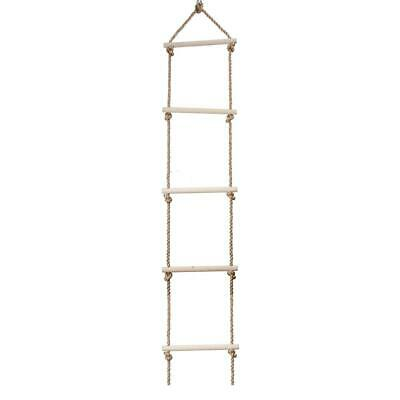 £14.05 • Buy  Wooden Rope Ladder Children Climbing Toy Safe Sports Rope Swing (5 Rungs)