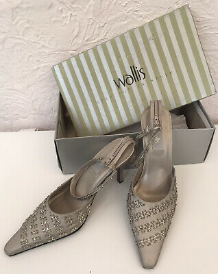£3.99 • Buy Wallis Beaded Strappy Shoes Size 6 & Beaded Bag