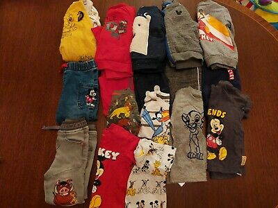 £10 • Buy Baby Boy 6 -9 Months Bundle Disney Lion King Mickey Mouse Primark Jeans Dungaree