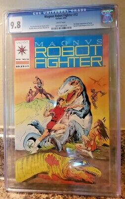 $28 • Buy Magnus Robot Fighter #12 CGC 9.8 NM / MT White Pages Valiant KEY 1st Turok HIGH