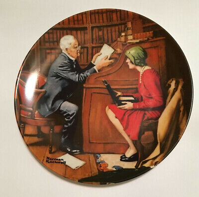 """$ CDN3.76 • Buy Norman Rockwell """"The Professor"""" Collector Plate"""