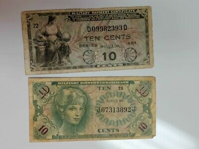 $10 • Buy Military Payment Certificates.....10  Cents  X 2..........#a-315