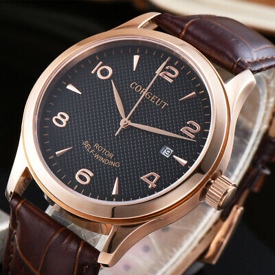 $ CDN75.52 • Buy 42mm CORGEUT Black Dial Sapphire Crystal Date Automatic Movement Men's Watches