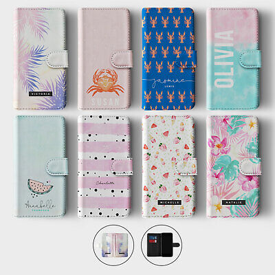 $ CDN6.84 • Buy Tirita Personalised Wallet Flip Case For Samsung S10 S9 S8 Palm Crab Lobsters