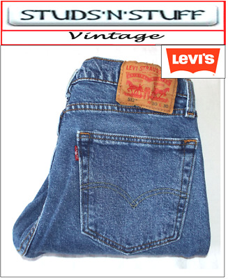 £15.99 • Buy Vintage Levis 512's Slim Tapered Fit Jeans W30  L30  Aprox Size Uk  10  ( T603 )
