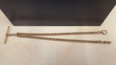 £975 • Buy Antique 9ct Rose Gold Albert Chain 15  With T Bar