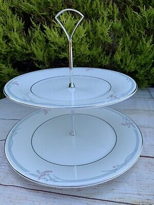 £12.50 • Buy Boxed And Unused 2 Tier Royal Doulton Carnation Cake Stand Vintage 1980s