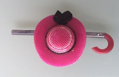 £75 • Buy Pink Hat With Black Bow And Curved Stick  Pin/brooch , 1968/80s From Lea Stein
