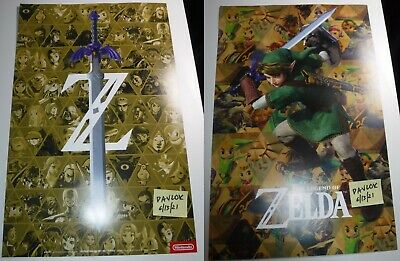$19.99 • Buy 11x17 Double Sided Zelda 35th Anniversary Poster Gamestop Exclusive 2021 Edition