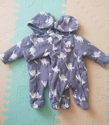 £5 • Buy Twin Baby Boys Clothes 0-3 Months John Lewis Pramsuite