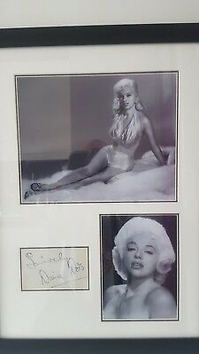 £99 • Buy Diana Dors Genuine Hand Signed 20x15 Inch Proffesional Framed Display Coa