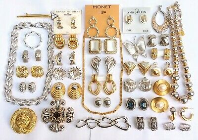 $ CDN283.24 • Buy 34 PC Vintage Gold & Silver Tone Jewelry Earring Lot Monet Givenchy Most Unworn