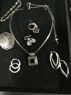 $ CDN81.83 • Buy A Lot Of Estate Finds Beautiful Vintage Sterling Silver Jewelry #10