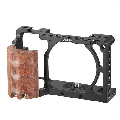 $ CDN36.10 • Buy SmallRig Camera Cage Kit With Wooden Grip For Sony A6000/a6300/a6500