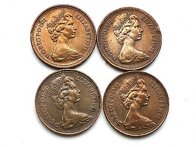 £2.99 • Buy RARE 4 Coins 1p NEW PENNY Coins  1971 1974  1980 1981