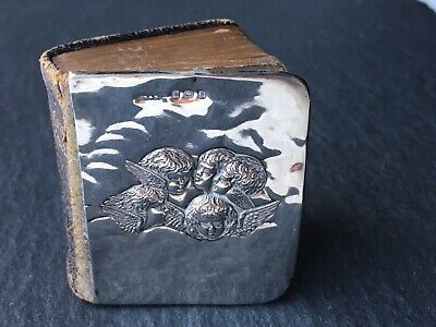 £60 • Buy Antique Solid Sterling Silver Fronted Pocket Common Prayer Book - Cherub Detail