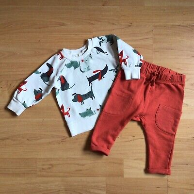 £1.85 • Buy Baby Boy 3-6 Months Clothes Next Outfit Doggy Top Matching Russett Bottoms