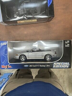 $120 • Buy Maisto Special Edition 2003 Ford Mustang Svt Cobra Convertible Silver 1:18 2004