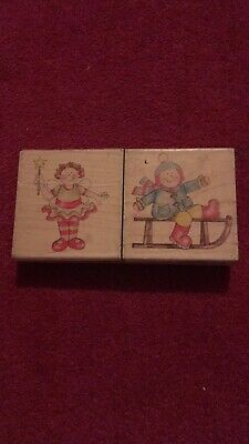 £3 • Buy Beautiful Wooden Christmas Rubber Stamps