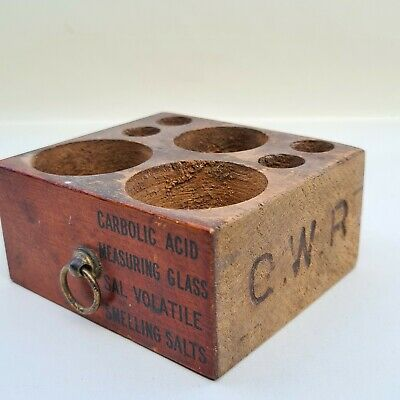 £15 • Buy G.W.R. Great Western Railway First Aid Case Wooden Drawer For Smelling Salts Etc