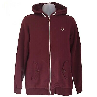 £22.99 • Buy Fred Perry Youth Size XL Extra Large Red Hoodie 21  Pit To Pit Burgundy