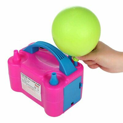 £17.99 • Buy Portable Electric Balloon Pump Party Inflator Air Blower Dual Nozzles UK Plug