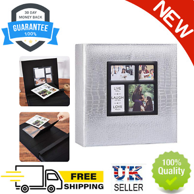 £27.89 • Buy Photo Album 1000 Pockets 6x4 Photos Croco, Extra Large Size Leather Cover