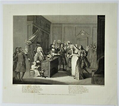 £25 • Buy After William Hogarth Antique Print 1803, Here Justice Triumphs, Engraved T Cook