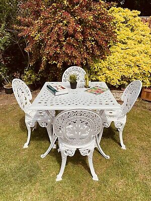 £495 • Buy Cast Aluminium Garden Table And Chairs Fully Restored