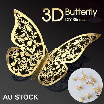 AU4.69 • Buy Up To 36PK 3D Butterfly Wall Decals Stickers Removable Kids Nursery Decoration