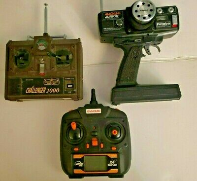 £7.20 • Buy Lot Of 3 RC Remotes For Parts Or Repair Vintage Challenger 2000, Futaba