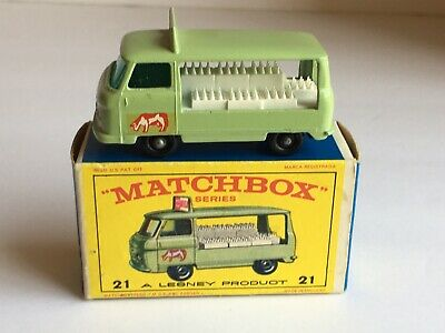 $74.99 • Buy Vintage Lesney Matchbox Green Milk Delivery Truck #21 With Original Box