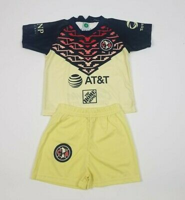 $20 • Buy New Club America Kid's Home Jersey Soccer Outfit Jersey And Shorts