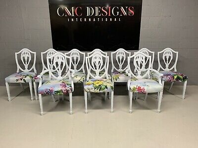 £999 • Buy Amazing Set Of 10 Beautiful Designers Guild Louis XVI Style Dining Chairs
