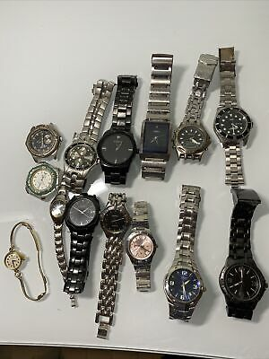 $ CDN51.18 • Buy Vintage Watch Lot Of 14 - Mens Women's  Gucci, SEIKO, TIMEX, Fossil.. For Repair