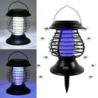 £6.69 • Buy Solar Powered Mosquito Killer Fly Bug Zapper Insect Light Trap Lamp New Outdoor