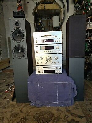 £100 • Buy TEAC Vintage Stack Hi-Fi System With Speakers , Split Box And All Cables Leads