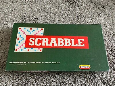 £0.99 • Buy Vintage Scrabble - Spears Games With Wooden Tile Holders