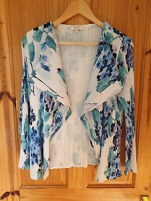 £1.49 • Buy East Size 14 Summer Floral Waterfall Jacket Light Cardigan