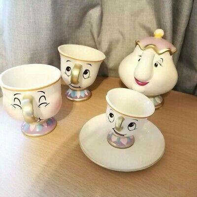 £10 • Buy Disney Beauty And The Beast Chip And Mrs Potts Money Box & Ornaments