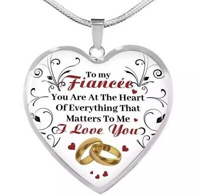 £6.99 • Buy My Fiancee You Are At The Heart Of Everything That Matters To Me Heart Necklace