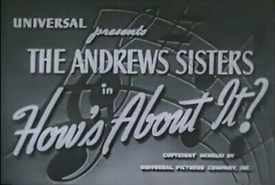 $ CDN19.90 • Buy How's About It? 1943 (DVD) The Andrews Sisters, Robert Paige, Shemp Howard