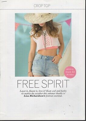 £1 • Buy Knitting Pattern - Free Spirit - Layer It Flaunt It Love It - Cropped Lacy Top