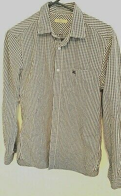 $58.88 • Buy Burberry Brit Mens  S  Black White Gingham Check Button Front Shirt Long Sleeve