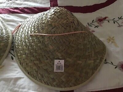 £9.99 • Buy Fancy Dress Mens Chinese Coolie Straw Hats X 2